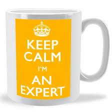 """Keep calm I'm an expert"" mug"